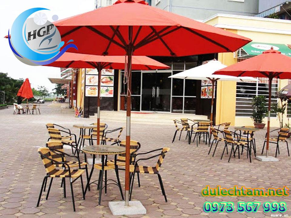 Bán Ô Dù Che Nắng Mưa Ngoài Trời Quán Cafe Tại Bình Dương Giá Rẻ