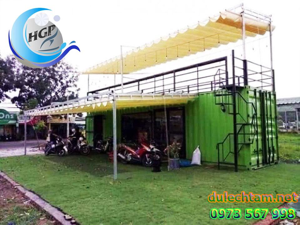 Thi Công Lắp Đặt Mái Hiên Di Động Tại TPHCM, Mái Xếp Quán Cafe